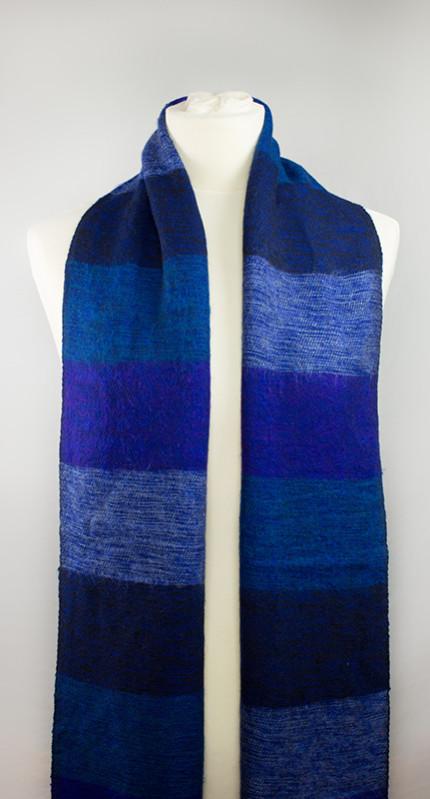 Tibet Sjaal paars blauw