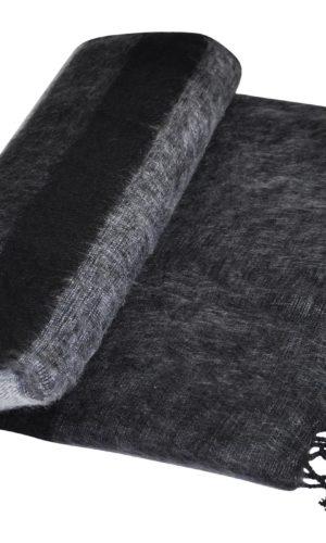 Deken Grijs Zwart van Yak Wol - Online Bestellen - Shawls4You