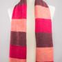 Sjaal rood roze gestreept