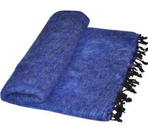 Terrasdeken Blauw van Yak Wol - Online Bestellen - Shawls4You