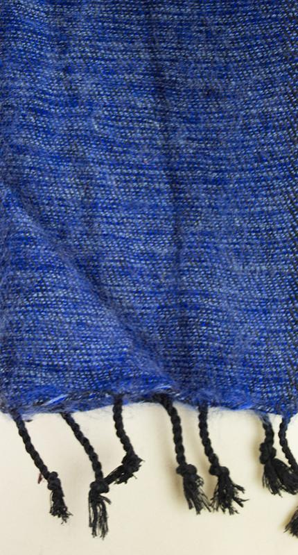 Tibetaanse Wollen Sjaal blauw