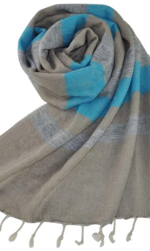 Stola blauw grijs - online bestellen -Shawls4you