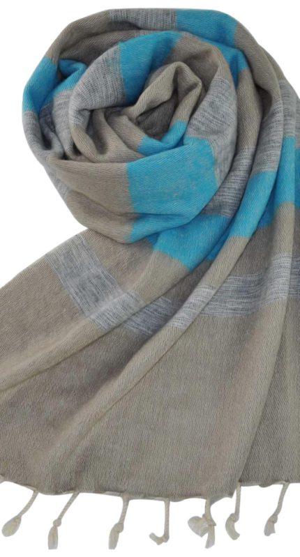 Stola blauw grijs – online bestellen -Shawls4you
