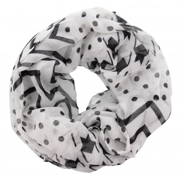 zwart crème sjaal