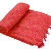 Plaid Oranje   Handgemaakt   Nepal   online kopen   www.shawls4you.nl