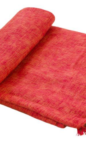 Plaid Oranje | Handgemaakt | Nepal | online kopen | www.shawls4you.nl
