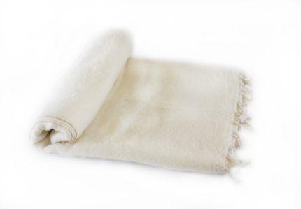 Plaid Creme   handgemaakt   Nepal   online kopen   www.shawls4you.nl