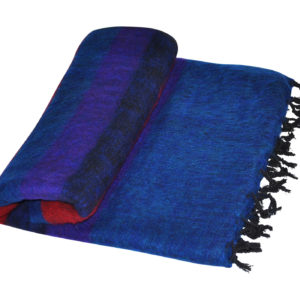 Nepal Deken Rood Blauw van Yak Wol - Online Bestellen - Shawls4You