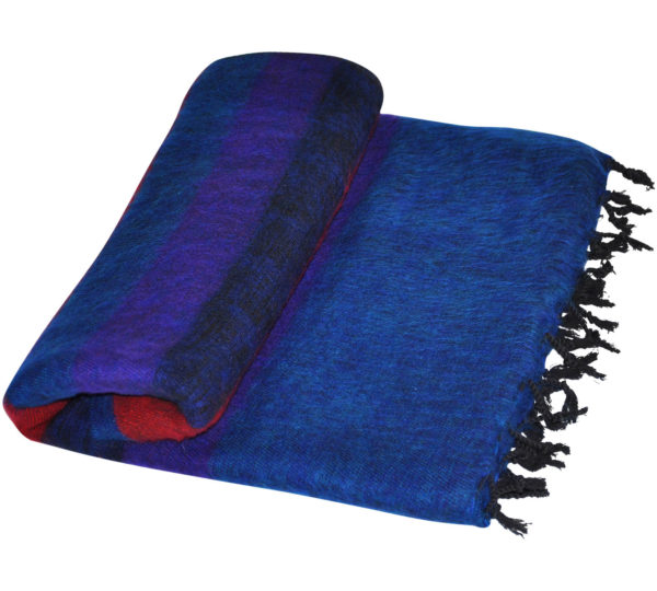 Nepal Deken Rood Blauw van Yak Wol – Online Bestellen – Shawls4You