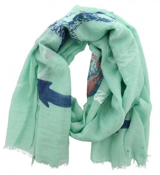 Sjaal Groen, Blauw (186 x 77 cm)