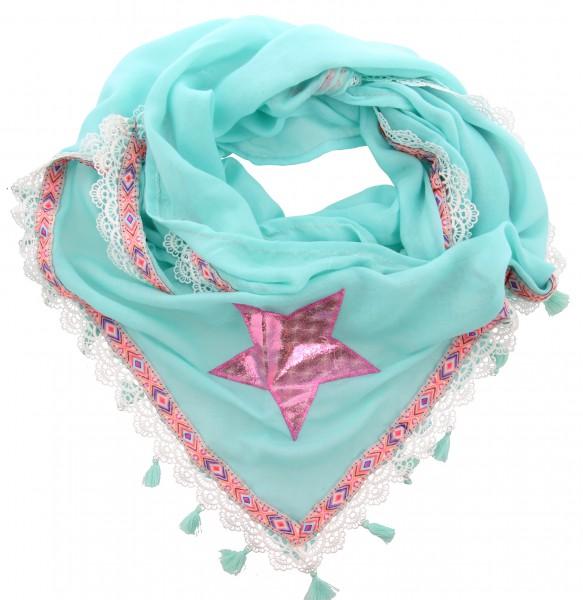 Sjaal Ibiza Blauw, Rood ( 180 x 90 cm )
