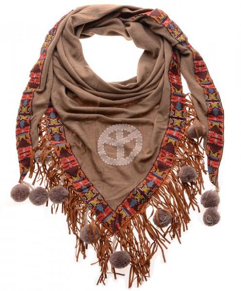 Sjaal Ibiza Bruin1