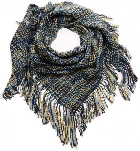 Sjaal Ibiza Geel, Bruin, Blauw ( 180 x 84 cm )