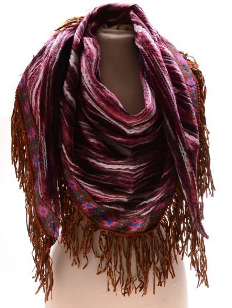 Sjaal Ibiza Paars, Bruin (190 x 71 cm)