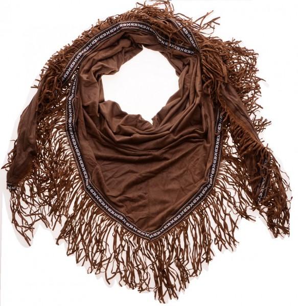 Sjaal Ibiza Suede Bruin (190 x 75 cm)