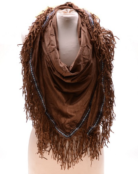 Sjaal Ibiza Suede Bruin2