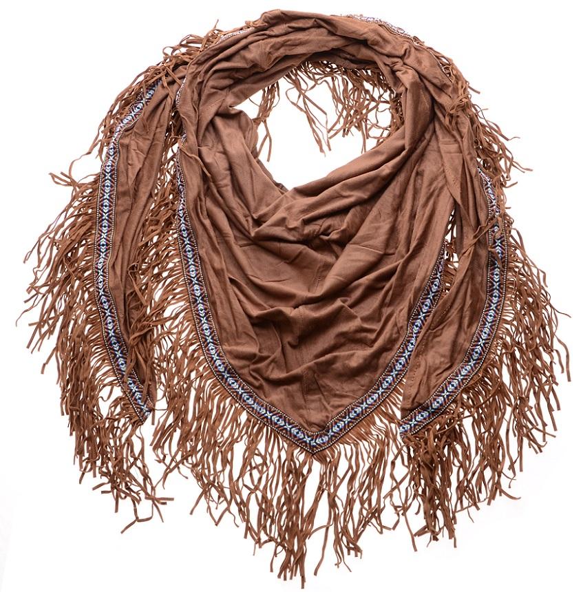 Sjaal Ibiza Suede Bruin