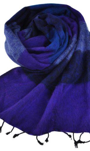 Omslagdoek Tibet Blauw Paars - online bestellen -Shawls4you