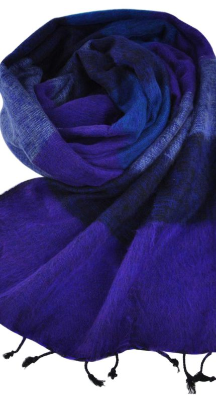 Omslagdoek Tibet Blauw Paars – online bestellen -Shawls4you