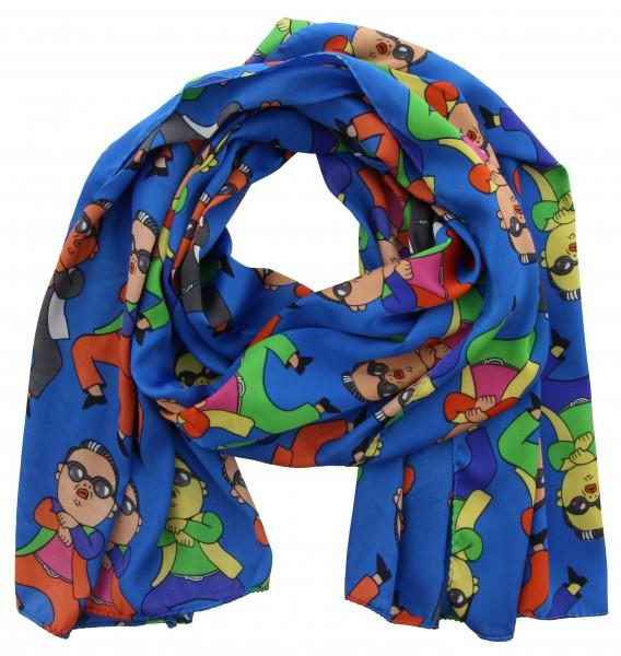 Sjaal Blauw, Multi color