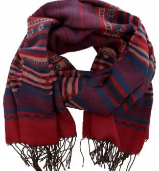 Sjaal Blauw, Roze