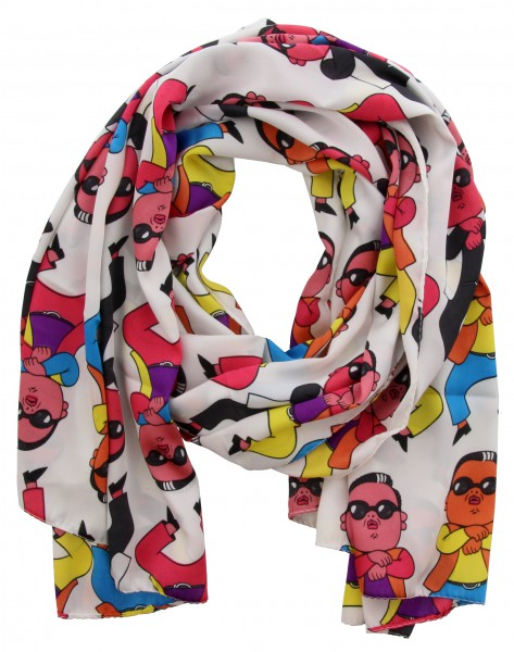 Sjaal Multi color, Wit