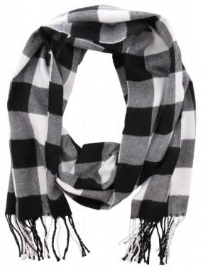 Sjaal Wit, Zwart