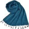 TIbetaanse Omslagdoek lichtblauw - online bestellen -Shawls4you