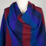 Tibetaanse Omslagdoek Blauw Rood