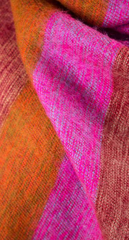 Tibetaanse Omslagdoek Roze Rood