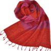 Omslagdoek Oranje gestreept | Fairtrade | online bestellen | shawls4you.nl