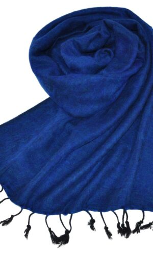Tibetaanse Omslagdoek donker blauw - online bestellen -Shawls4you