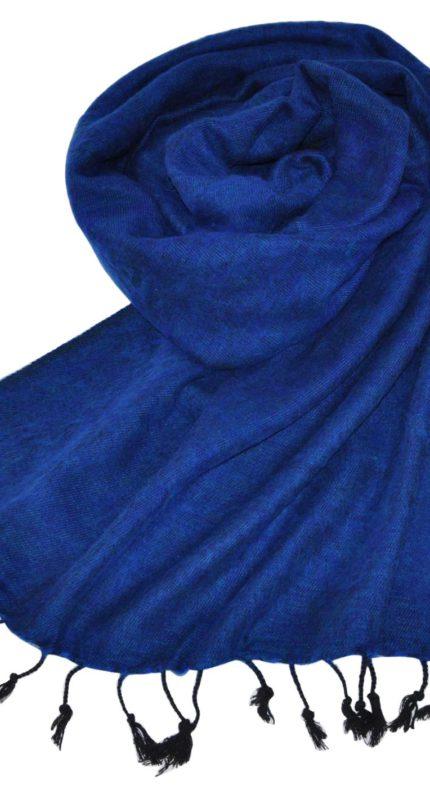 Tibetaanse Omslagdoek donker blauw – online bestellen -Shawls4you
