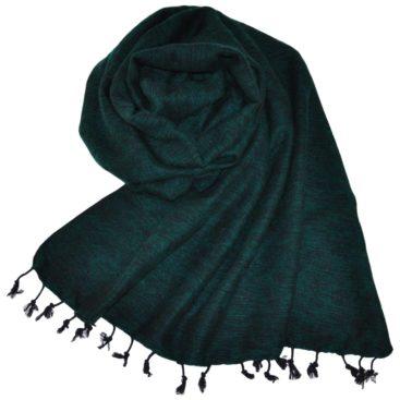 Tibetaanse Wollen Omslagdoek Groen - online bestellen -Shawls4you