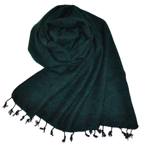 Tibetaanse Wollen Omslagdoek Groen – online bestellen -Shawls4you