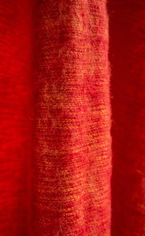 Tibetaanse Wollen Omslagdoek Rood