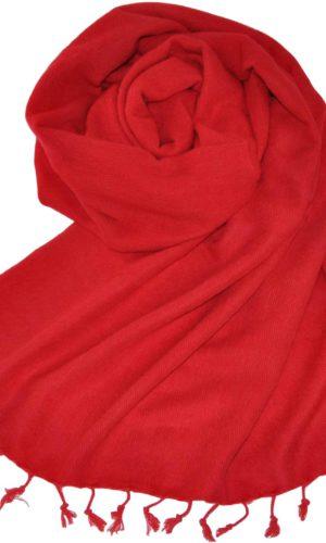 Yakwol Omslagdoek Rood - online bestellen -Shawls4you