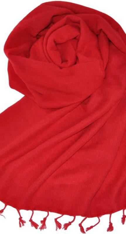 Yakwol Omslagdoek Rood – online bestellen -Shawls4you