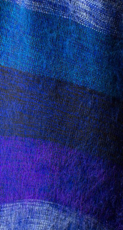 Nepal Omslagdoek Blauw Gestreept2