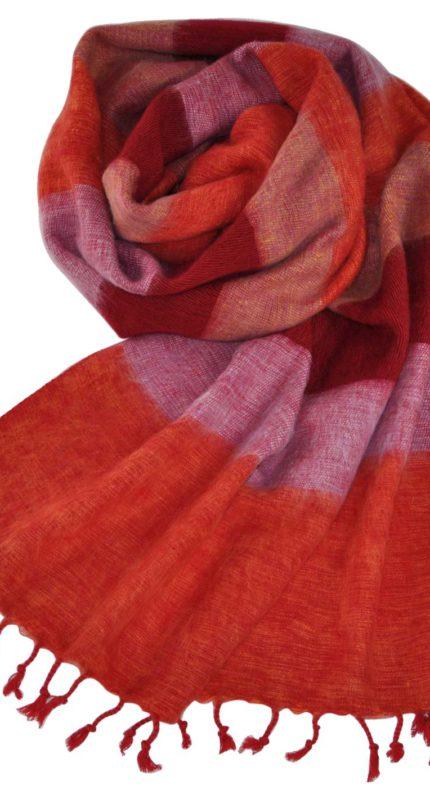Nepal Omslagdoek Rood Roze – online bestellen -Shawls4you