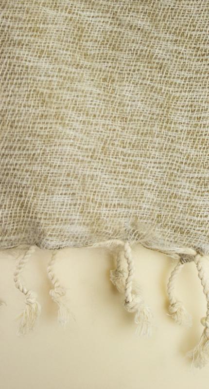 Nepal Sjaal Grijs Crème Wit1
