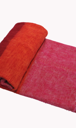 Nepal Plaid Oranje Roze gestreept | online kopen | shawls4you.nl