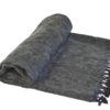 Plaid Antraciet handgemaakt | Nepal | online kopen | www.shawls4you.nl