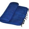 Plaid Koningsblauw handgemaakt | Nepal | online kopen | shawls4you.nl