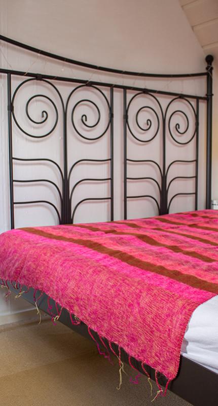 Nepal Deken Roze Gestreept