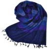 Nepal Omslagdoek Donker Blauw Gestreept - online bestellen -Shawls4you.nl