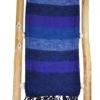 Nepal Omslagdoek Donker Blauw Gestreept – online bestellen -Shawls4you.nl