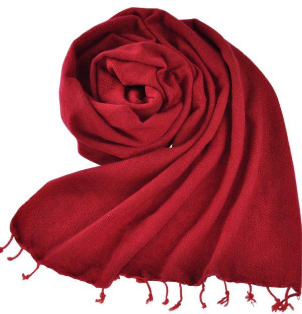 Omslagdoek Donkerrood | Fairtrade | Nepal | Bestel online | shawls4you.nl