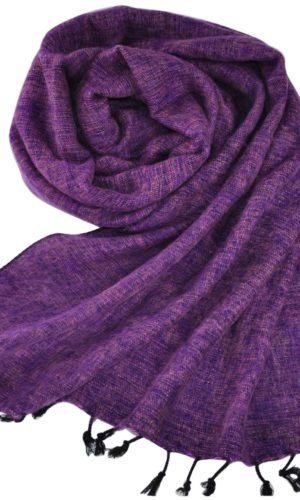 Nepal Omslagdoek Lila | Fairtrade | Nepal | Bestel online | shawls4you.nl