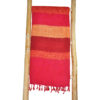 Nepal Sjaal Rood Gestreept – online bestellen -Shawls4you